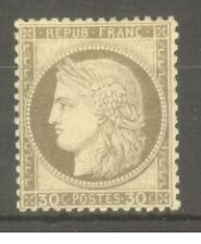 """FRANCE STAMP TIMBRE N° 56 """" CERES 30c BRUN 1872 """" NEUF x TB"""