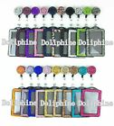 Bling Multi-Colors Rhinestone Retractable Reel with Vertical Badge Holder