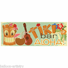 56cm tropicale Tiki Bar Party ALOHA! in Plastica PVC SIGN BANNER Decorazione