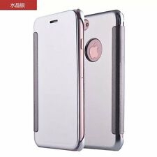 "New Clear View Smart Flip Cover Case for Apple iPhone 7 (4.7"") - Silver"