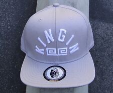 KINGIN GRAY/CHARCOAL LAST KINGS APPAREL MENS HAT ONE SIZE SNAPBACK
