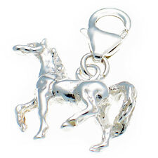 Sterling 925 Solid Silver Welded Bliss British Charm. 3d  Horse Pony Clip On fit
