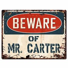 PP1445 Beware of MR. CARTER Plate Chic Sign Home Store Wall Decor Funny Gift