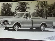 "12 By 18"" Black & White PICTURE  1967 Chevrolet Fleetside Pick up truck 3/4 view"
