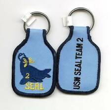 UNITED STATES NAVY ( USN ) SEAL TEAM TWO EMBROIDERED KEY FOB