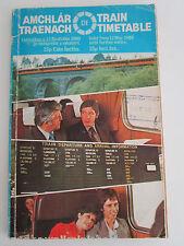 IRELAND Train Timetable CIE Córas Iompair Éireann Amchlár Traenach 1980 Fahrplan