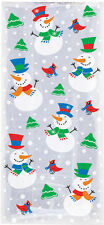20 x Christmas Snowman Glee Cello treat loot Party Bags favour Cellophane Bags