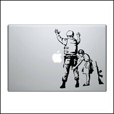 Banksy Decal for Macbook Pro Sticker Vinyl skin air 13 15 17 police search girl