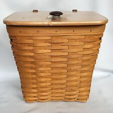 Longaberger Large Mailbox Basket Woodcraft Lid Protector And Plastic Insert Mail