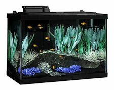 20 Gallon Aquarium Kit with Filter Plants Heater Color Changing LED Fish Tank