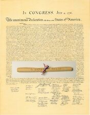 DECLARATION of INDEPENDENCE rolled & tied with red white & blue ribbon
