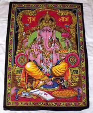 Wandbehang Wandbild Ganesha Pailletten Indien XXL