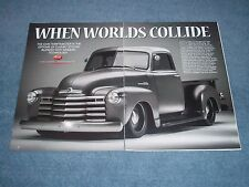 """1950 Chevy 5-Window 3100 Pickup Article """"When Worlds Collide"""""""