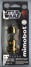 2012 Mimoco MIMOBOT Star Wars C-3PO C3PO 8GB Shiny GOLD Chrome USB! Droid Figure