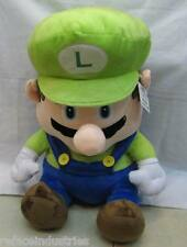 Super Mario Bros - Sitting Luigi Plush - 18 inch Plush Toy