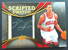 #/25 Derrick Rose 2008-09 Exquisite Scripted Swatches Auto Patch RC