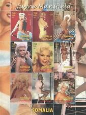 JAYNE MANSFIELD HOLLYWOOD LEGEND SOMALIA 2002 MNH STAMP SHEETLET