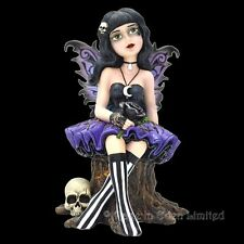 *TWILA* Little Shadows Goth Girl Fairy Art Resin Figurine By Nemesis Now (15cm)