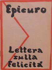 V1243 LIBRO LETTERA SULLA FELICITA' DI EPICURO 3a EDIZIONE DELL'APRILE 1992