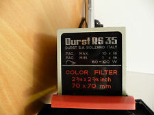 "VINTAGE DURST RS 35 NEPONEG PORTABLE PHOTO ENLARGER 2-3/4"" x 2-3/4 ""70x70mm"