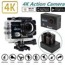 "SJ9000 4K HD WiFi Sports Action Camera 2.0"" LCD 16MP +Dual Charger Battery Kits"