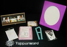 Tupperware 4 sizes NEW Picture Photo Frames ~New Old Stock ~PINK PURPLE WHITE
