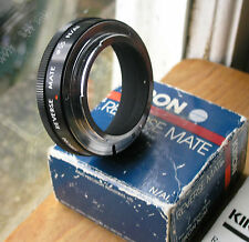 Nikon F  fit  (film camera)  fit reverse mount to 55mm filter macro used Kiron