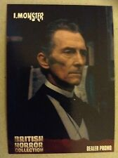 BRITISH HORROR COLLECTION - SERIES ONE: DEALER PROMO CARD: GP2 - PETER CUSHING