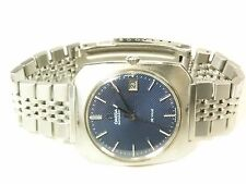 OMEGA DE VILLE 38mm AUTOMATIC DATE STAINLESS SWISS 17 JEWEL BLUE DIAL