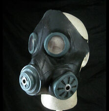 Gasmask Smoke Black Military Costume Adult Latex Halloween Mask