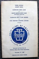1965 FAIRHAVEN MIDGET BOWL High School BOWLING Program SOUTH QUEENS New York NYC