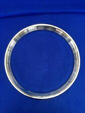 """15"""" FORD RIBBED STAINLESS STEEL TRIM RINGS/BEAUTY RINGS SET OF 4"""
