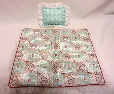 Retired 1999 BITTY BABY CRIB BEDDING Set BB Quilt & Pillow First Version EUC