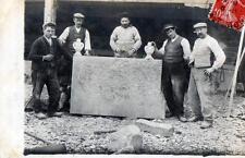 CPA 12 AVEYRON CARTE PHOTO EXCEPTIONNELLE FIGURANT DES TAILLEUS DE PIERRE (GROS