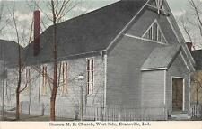 EVANSVILLE IN Simson ME Church, West Side Indiana Vintage Postcard ca 1910s