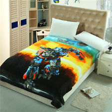 "Disney Transformers Autobots Robot Plush Soft Flannel Blanket Throw 60"" X 80"""