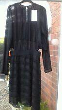 BNWT ZARA BOUCLE BLACK DRESS SIZE M REF 0387/303