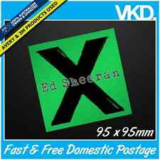 Ed Sheeran X Sticker/ Decal -  Tickets Vinyl Laptop Guitar Cool Retro UK CD Paw