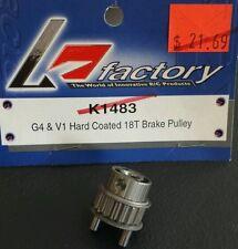 K FACTORY RC G4 & V1 HARD COATED 18T BRAKE PULLEY K1483