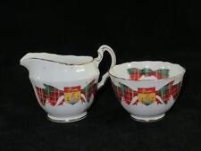 Vintage porcelaine pot à lait & sucrier adderley nouveau-brunswick tartan 1960s