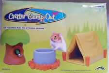 Super Pet CRITTER CAMP-OUT 3 Piece Set Hamster Gerbil Mouse with Dish Bottle NEW