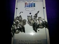 Dragon Earrings in Nebula Silver by Peter Stone