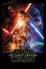 "STAR WARS EPISODE VII POSTER ""THE FORCE AWAKENS""  COVER ""LICENSED"" BRAND NEW"