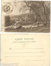 CPA postcard mouton sheep animal vue artistique entre les Oliviers GRASSE 06 R
