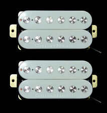 Guitar Parts GUITARHEADS PICKUPS FAT POLE HUMBUCKER - Bridge Neck SET 2 - WHITE