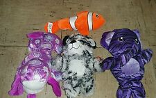 Lot of 4  Plush animals- Dog,elephant, bear and Nemo  Peek-a boo toys