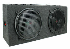 "New Pyramid PP12 Dual 12"" 300W 4-Way Car Stereo Hatchback Subs Speaker System"