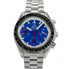 Pre-owned Omega Speedmaster Racing 3510.80 SS Automatic Blue Dial Watch,AS