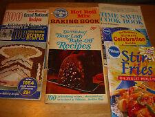 Lot of 7 Vintage pillsbury cookbook Bake off 1954-2000