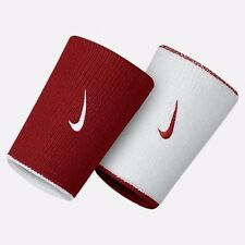 2 NIKE MENS UNISEX REVERSIBLE RED WHITE BASKETBALL TENNIS SPORT WRISTBANDS NWT